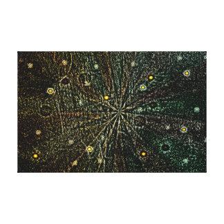 レトロの惑星および星 キャンバスプリント