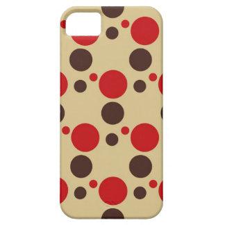 レトロの抽象的な円の水玉模様のモダンな泡点 iPhone SE/5/5s ケース