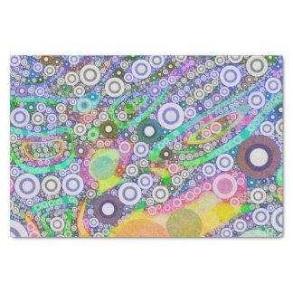 レトロの抽象的な円パターン 薄葉紙