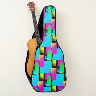 レトロの抽象的な紙吹雪 ギターケース