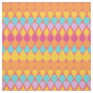 レトロの抽象的な虹の雨滴パターン ファブリック