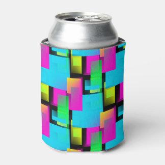 レトロの抽象芸術のブロックパターン 缶クーラー