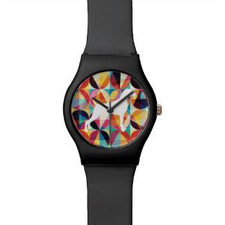 レトロの数々のなカラー・グラフィックWEIMARANERの腕時計の黒 腕時計