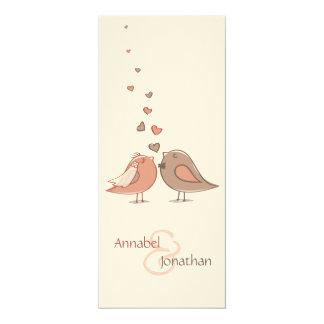 レトロの新郎新婦の鳥のスケジュール カード