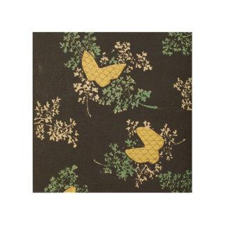 レトロの日本のな蝶 ウッドウォールアート
