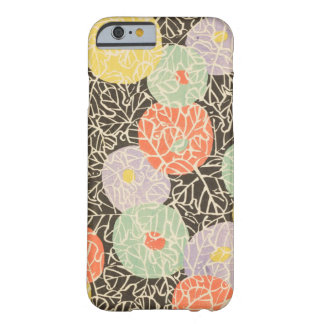 レトロの日本人の抽象芸術の花柄 BARELY THERE iPhone 6 ケース