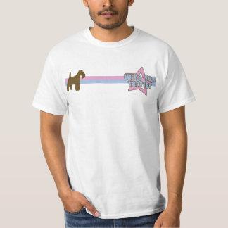 レトロの星ワイヤーフォックステリア犬 Tシャツ