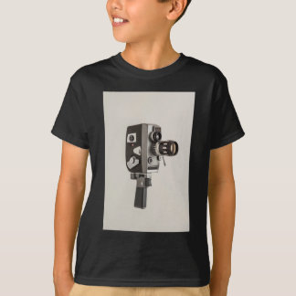 レトロの映画館のカメラ Tシャツ