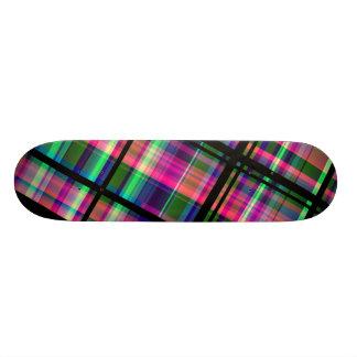 """""""レトロの格子縞""""のフラクタルの芸術のカスタムのスケートボード 20CM スケートボードデッキ"""