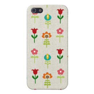 レトロの民俗花模様 iPhone 5 カバー