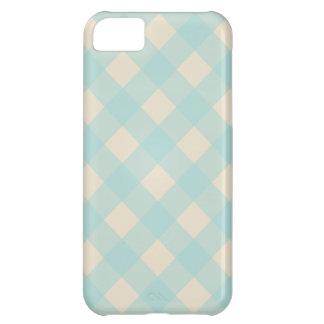 レトロの水のギンガムのiPhone 5の場合 iPhone5Cケース