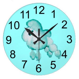 レトロの水のプードルの柱時計 ラージ壁時計