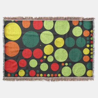 レトロの水玉模様の色彩の鮮やかなキャンバス スローブランケット