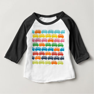 レトロの波バスイラストレーション ベビーTシャツ