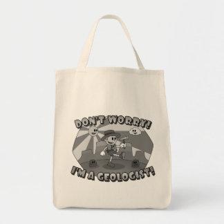 レトロの漫画は心配しません; 私は地質学者です! トートバッグ