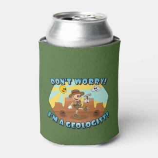 レトロの漫画は心配しません; 私は地質学者です! 缶クーラー