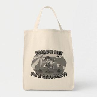 レトロの漫画は私を後を追います! 私は地質学者です! トートバッグ