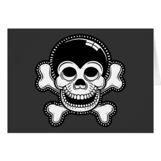 レトロの漫画猿の海賊スカル カード