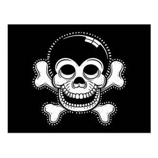 レトロの漫画猿の海賊スカル ポストカード