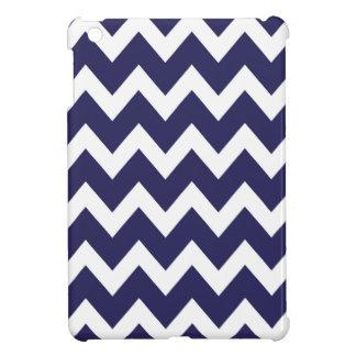 レトロの濃紺のジグザグパターン iPad MINIケース