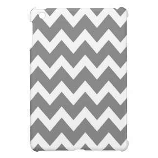 レトロの灰色のジグザグパターン iPad MINIケース