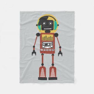 レトロの無線のロボット フリースブランケット