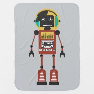 レトロの無線のロボット ベビー ブランケット