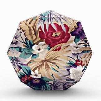 レトロの熱帯花模様 表彰盾