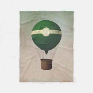 レトロの熱気の気球の小さいフリースブランケット フリースブランケット