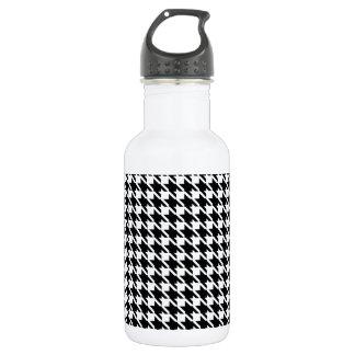 レトロの白黒パターン ウォーターボトル