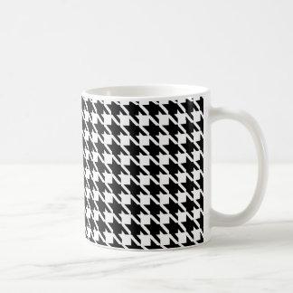 レトロの白黒パターン コーヒーマグカップ