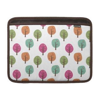 レトロの秋の木パターン MacBook スリーブ