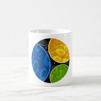 レトロの空想科学小説の惑星 コーヒーマグカップ