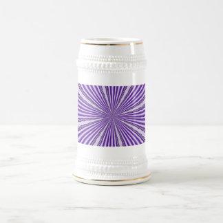 レトロの紫色のストライプ ビールジョッキ