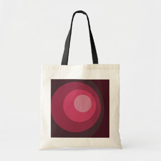 レトロの紫色の円 トートバッグ