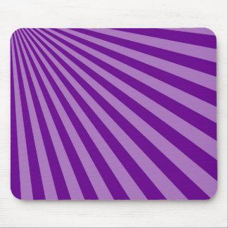 レトロの紫色の日曜日は背景を放射します マウスパッド