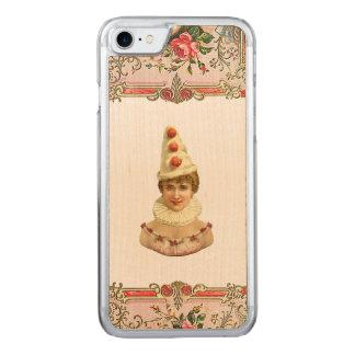 レトロの細い反逆のかわいらしいPierrotの女性のiPhone 5/5S Carved iPhone 8/7 ケース