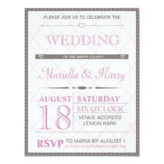 レトロの結婚式招待状 10.8 X 14 インビテーションカード