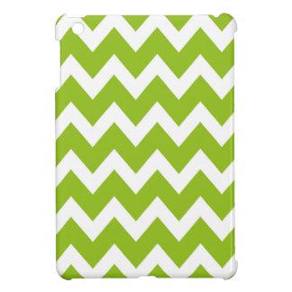 レトロの緑のジグザグパターン iPad MINIケース