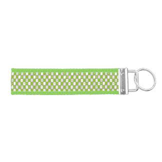 レトロの緑のスターバストの手首Keychain リストバンドキーホルダー