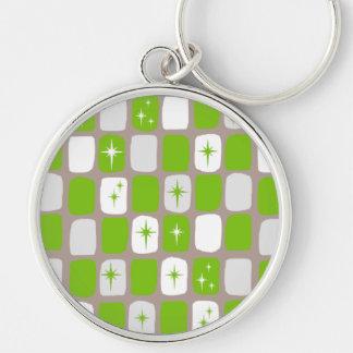 レトロの緑のスターバスト優れた円形のKeychain キーホルダー