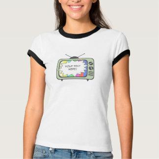 レトロの緑のテレビ Tシャツ