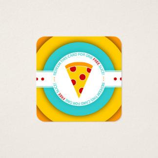 レトロの自由なピザ切れのクーポン スクエア名刺