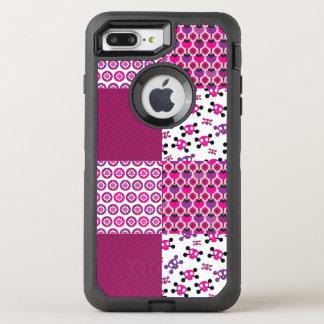 レトロの花のスカルの水玉模様 オッターボックスディフェンダーiPhone 8 PLUS/7 PLUSケース