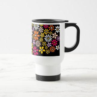 レトロの花模様 トラベルマグ