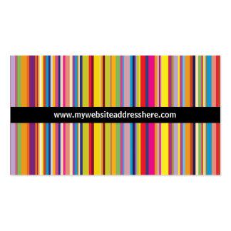 レトロの芸術のストライプのな虹のウェブサイトの名刺 スタンダード名刺