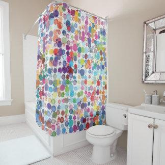 レトロの芸術のペンキの虹のシャワー・カーテン シャワーカーテン