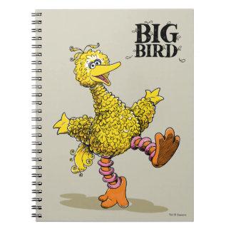 レトロの芸術の大きい鳥 ノートブック