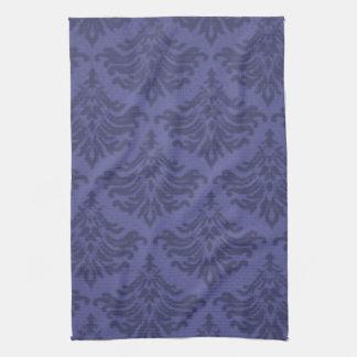 レトロの華麗さの青いすみれ色の台所タオル キッチンタオル