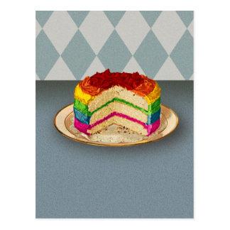 レトロの虹のケーキ ポストカード